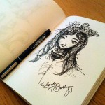 Woodland Lily Sketch