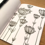 Day 74 Cow Parsley Sketch